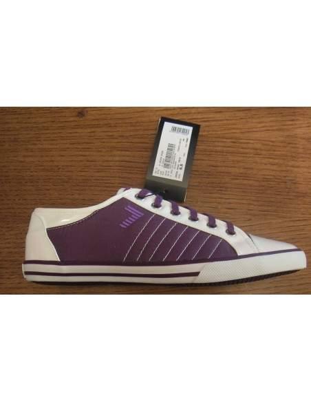 Chaussures Emporio Armani EA7 baskets avec logo de 285206 femmes avec violet / 25010
